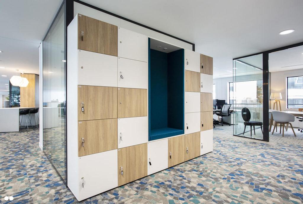 Aménagement casier sur-mesure avec alcôve - AXYS Consultants, Levallois Perret