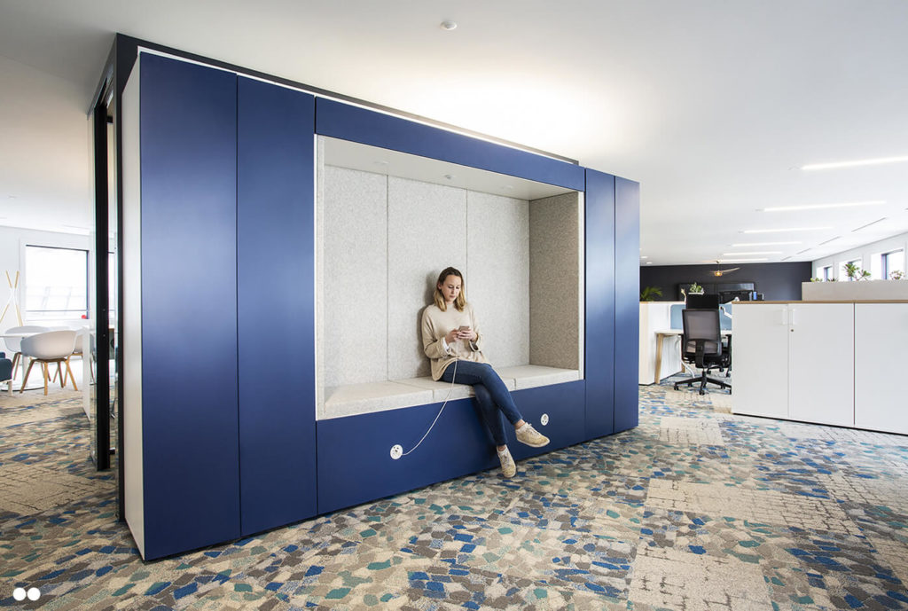 Aménagement espace connectés et informels - AXYS Consultants, Levallois Perret