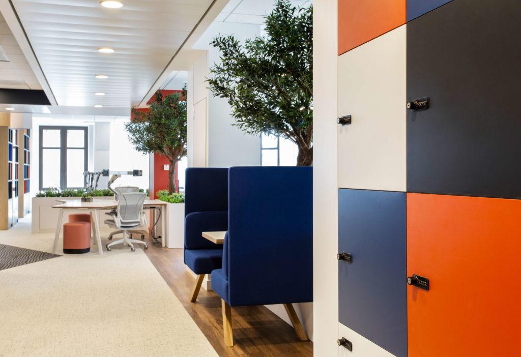 Casier sur-mesure aménagement espace professionnel - DBA Paris 1