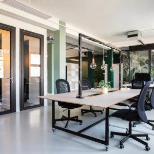 Table projet moon connectée flex office