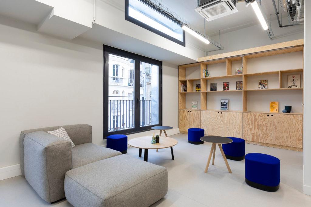 Aménagement d'un espace cafétéria - Réalisation LE TANK - Paris 11