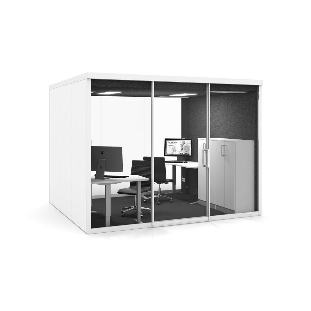Cabine acoustique – GROUPSPACE XL – VETROSPACE 3