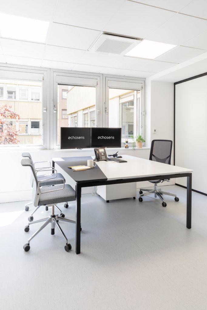 Aménagement d'un bureau destiné aux managers - Réalisation ECHOSENS - Paris 14