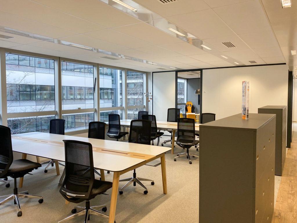 Aménagement d'un espace ouvert pour flex office - Réalisation MIDAS - Rueil Malmaison