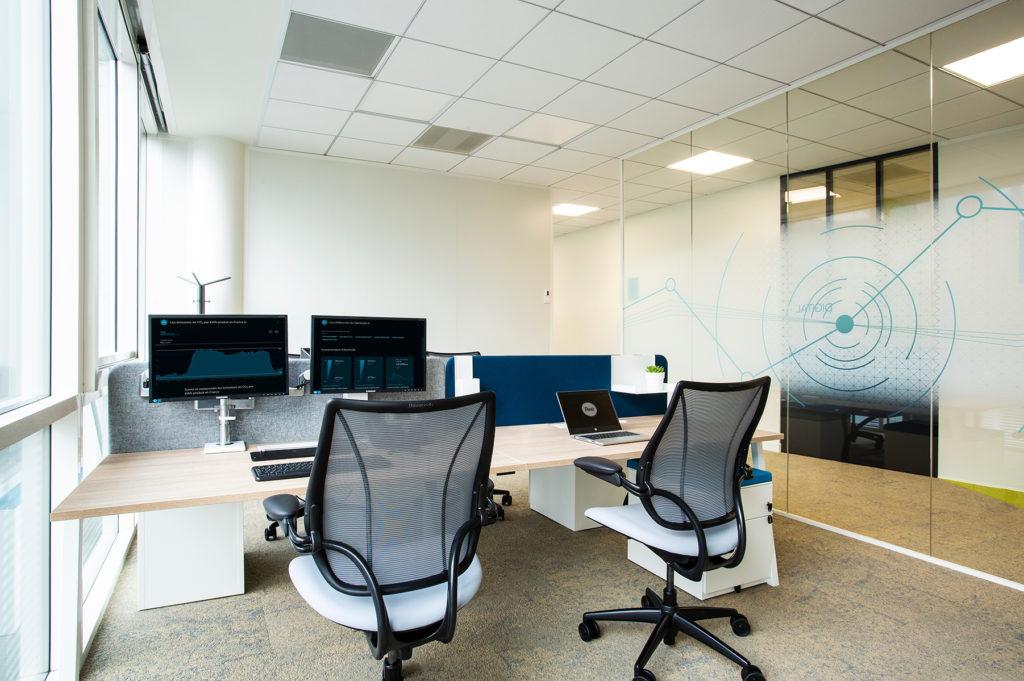 Aménagement d'un espace de travail en open space - Réalisation RTE - Puteaux