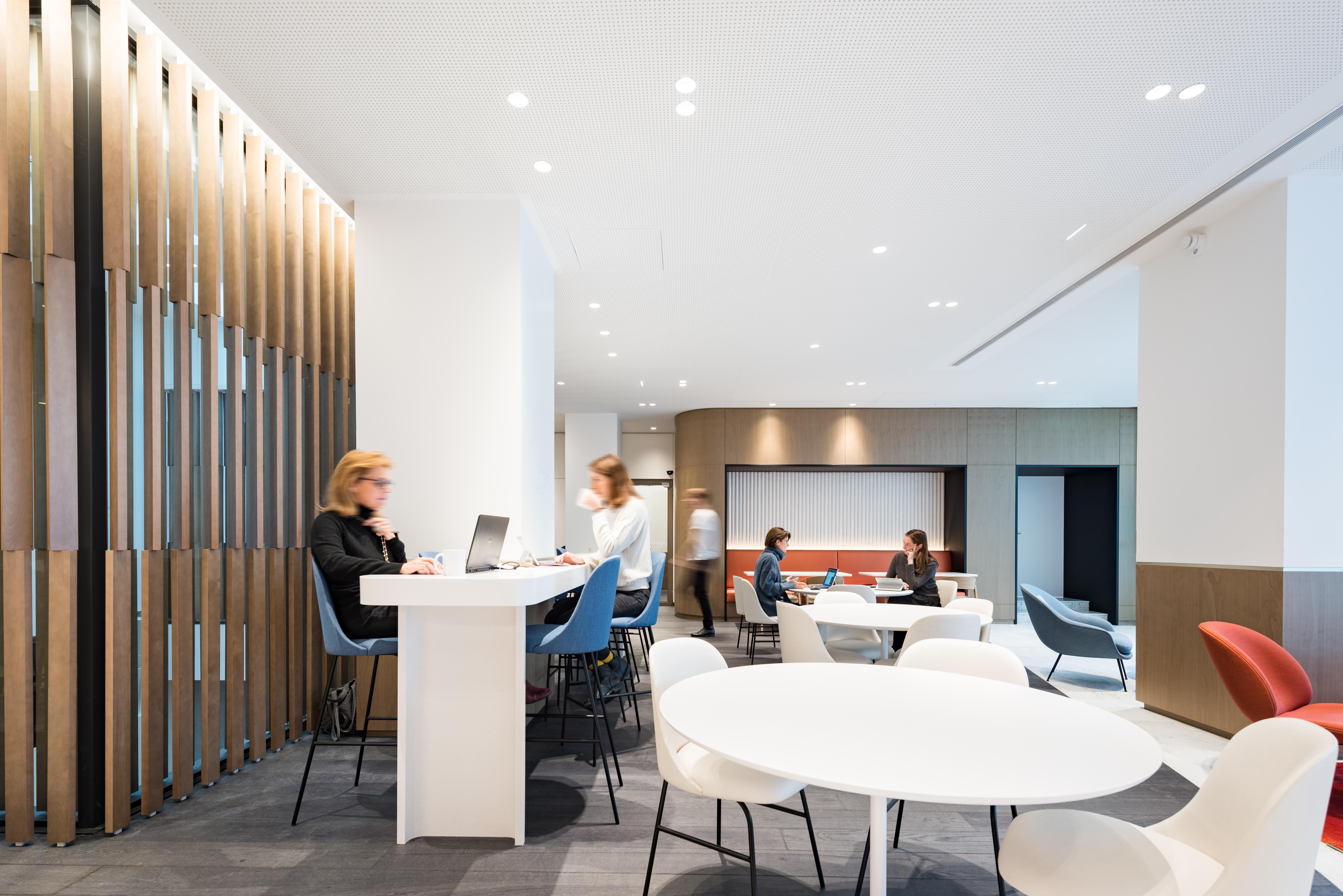 Aménagement d'un espace cafétéria, restauration - Réalisation UNOFI - Paris 1