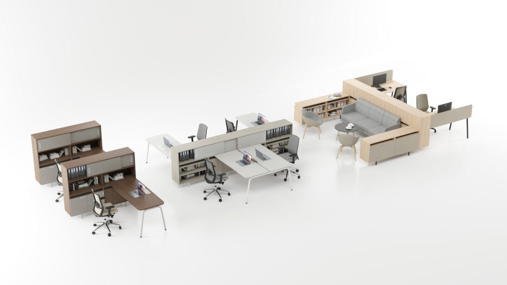 desks ROUND features task chairs SURF HQ (2)