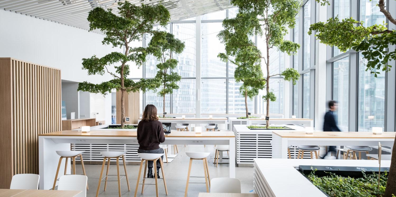Aménagement des espaces collaboratifs du nouveau siège social monde