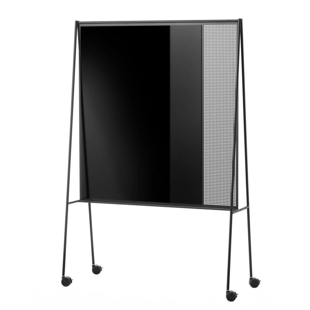 Magnetic board / black / pin / floor-standing